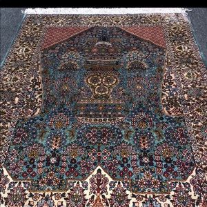 100% SILK HAND LOOMED RUG-awesome